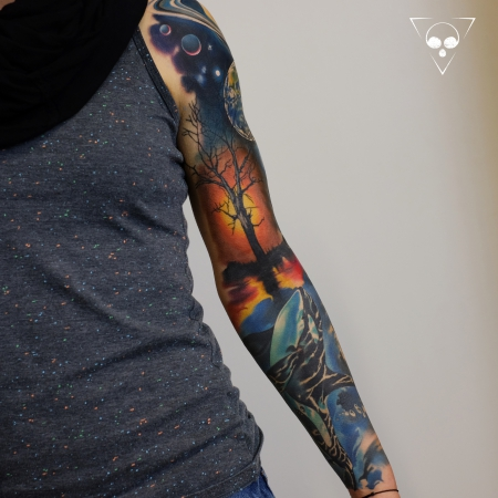 Orca - Meer - Universum Sleeve in progress