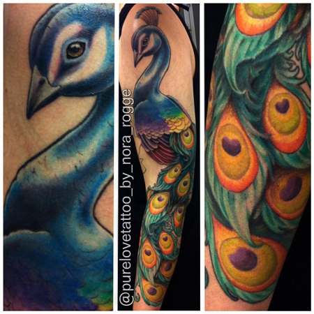 pfau-Tattoo: ♥ Pfau Arm Tattoo ♥