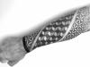 Geometric Dotwork Unterarm Tattoo