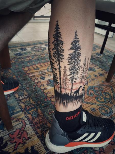 Wald (Sorry Mom Tattoo Spanien, Künstler Raffa)