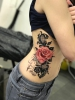 Spitzen mit Rosen Tattoo / Lace and roses tattoo