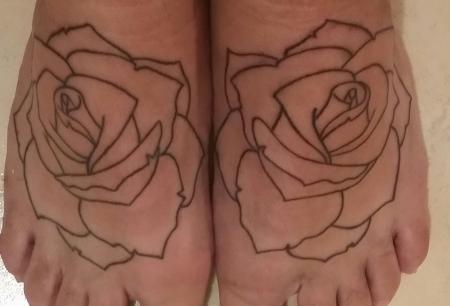 First Session Rosen auf den Füßen