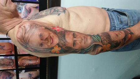familie-Tattoo: meine Familie
