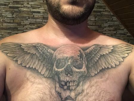 Cover Up Flügel totenkopf