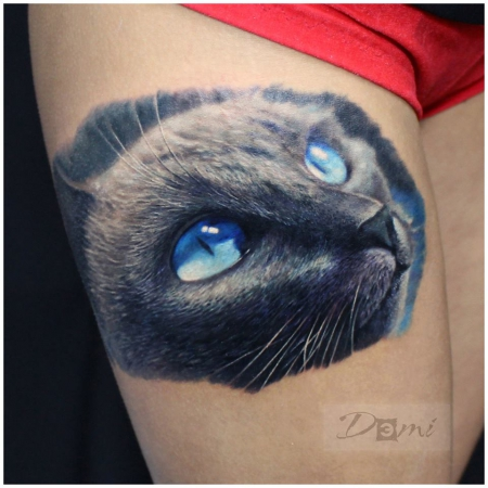katze-Tattoo: Katze