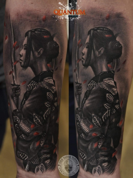 Weiblicher Samurai