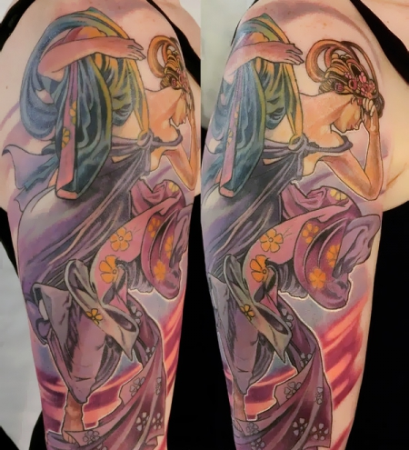 Luis orellana art nouveau tattoo