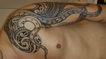 kleeblatt-Tattoo: Octopus