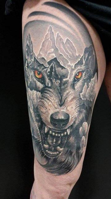 fantasy wolf head