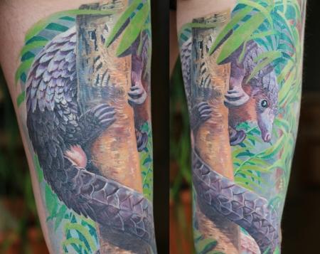 Malaiisches Schuppentier - Regenwald Sleeve Part 4