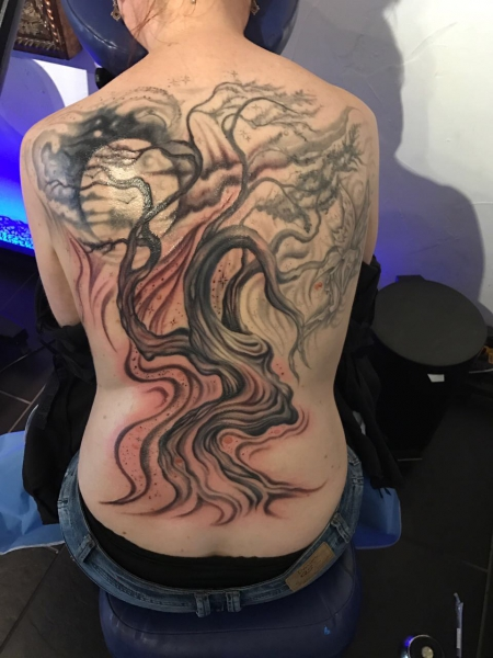 Baum Rücken