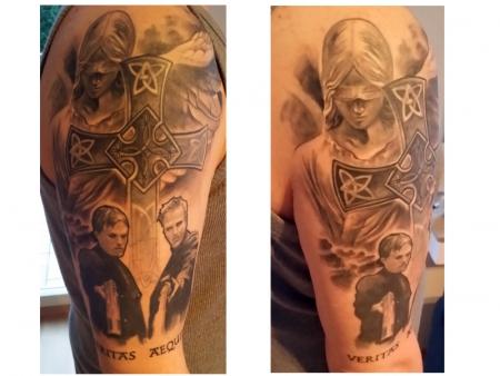 kreuz-Tattoo: Justice Angel, Kreuz, Boondock Saints