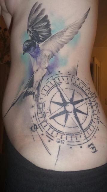 Schwalbe und Kompass