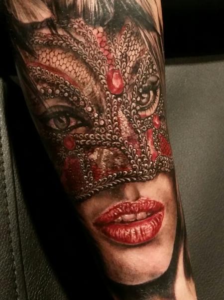 masken-Tattoo: Venedig