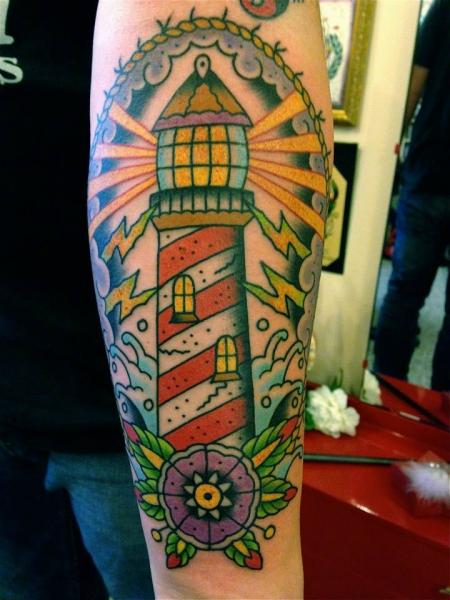 tattoos zum stichwort leuchtturm tattoo. Black Bedroom Furniture Sets. Home Design Ideas