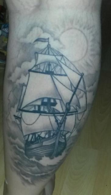 sunshineliesle schiff mit seegang tattoos von tattoo. Black Bedroom Furniture Sets. Home Design Ideas