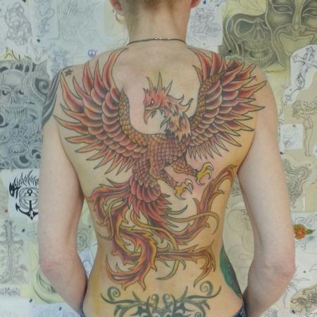 phönix-Tattoo: Phönix fertig