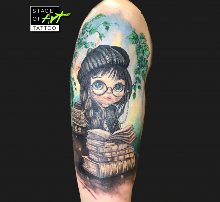 Blythedoll  - Full Color Tattoo