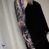 Sleeve in progress // Wald schwarz weiß - Oberarm verheilt, Unterarm frisch