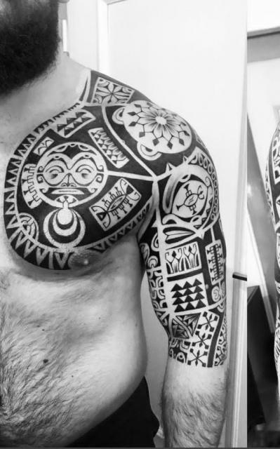Maori Polynesisch Marquesan