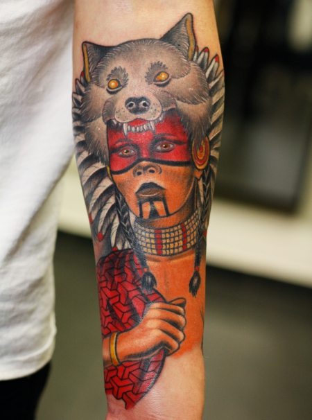 native american sleeve Part 2 Indianer