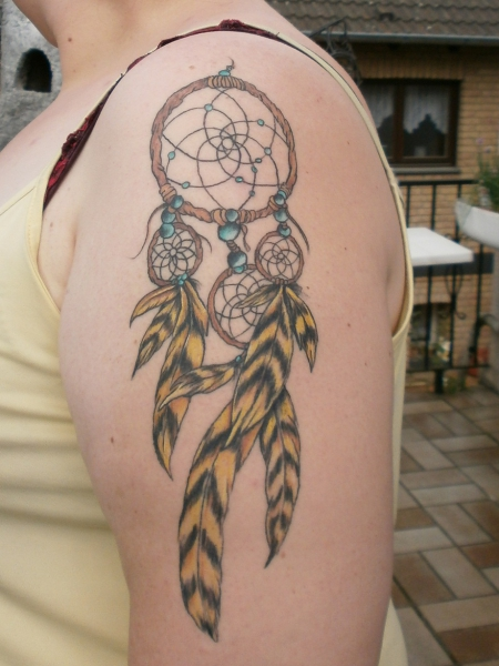 puggle1710 dreamcatcher traumf nger tattoos von tattoo. Black Bedroom Furniture Sets. Home Design Ideas