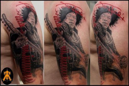 Jimi Hendrix etwas stoned^^(größtenteils abgeheilt)