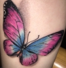 1.Tattoo 3D Schmetterling