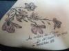 Blumen / Gedicht rechte Schulter