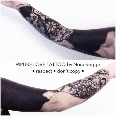 Blackwork Mandala Arm by PURE LOVE TATTOO Nora Rogge