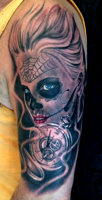 chicano-Tattoo: Muerta Chicano Excellent Tattooart