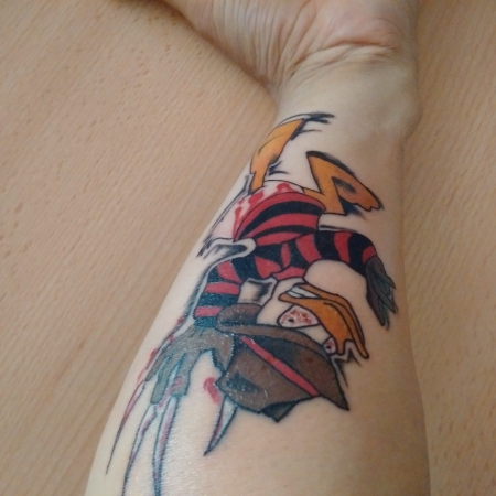 Tattoo Freddy KRüger Donald Duck