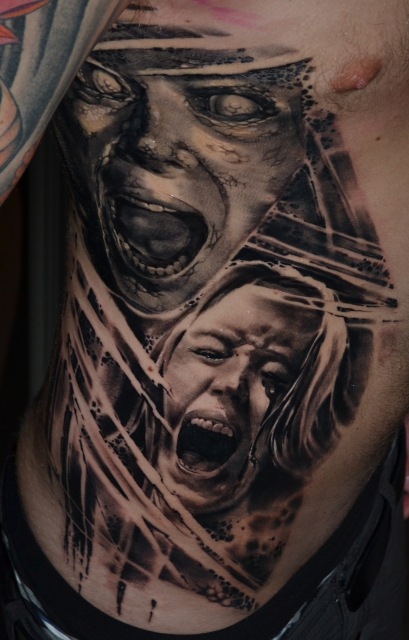 Zombies on the ribs... 3 sittings on row.