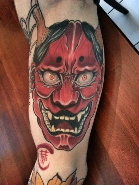 hannya-Tattoo: Hannya komplett verheilt (Hintergrund folgt)