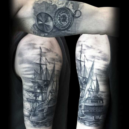Black and Grey Tattoo von Laci Invictus Tattoo Berlin