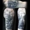 Black and Grey Tattoo von Laci Invictus Tattoo Berlin