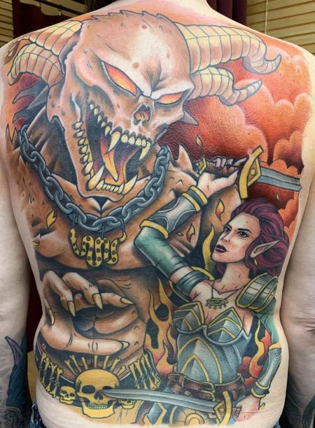 Fantasy Rücken