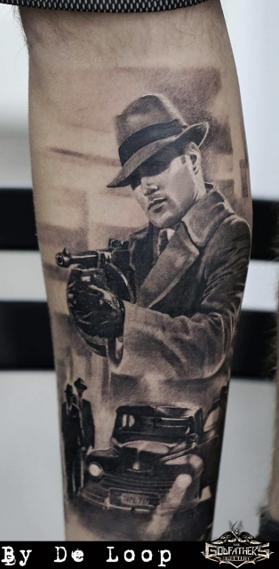 Gangster Tattoo - Godfather's Tattoo Nürnberg - By DE LOOPP
