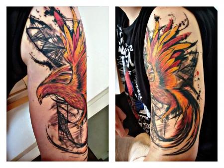 Abstrakter Phoenix