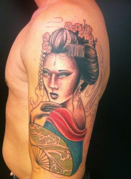Geisha in Arbeit