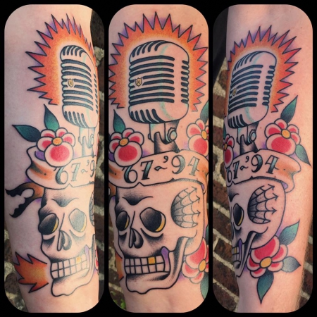 old skool skull&mic.