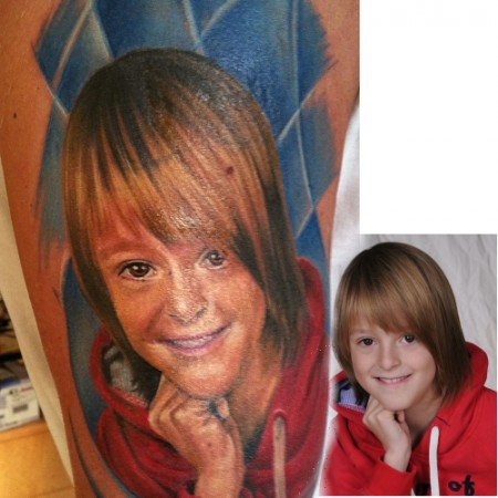 Engel-Tattoo: Portrait