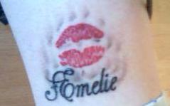 original (oder fast) kussmund meiner Tochter amelie