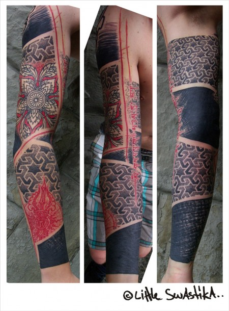 red and black arm 1