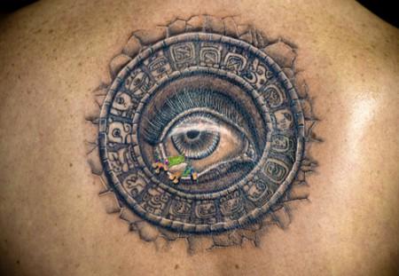 Maya Kalender mit 3. Auge