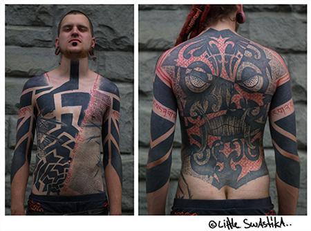 Swastika chest, Fantasy back