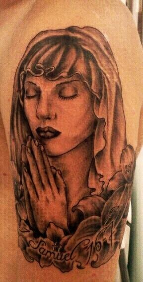 Betende Frau mit 1 Samuel 16 Vers 7
