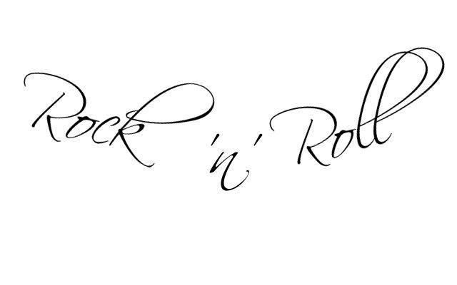 rock 39 n 39 roll schriftzug verbessern tattoo. Black Bedroom Furniture Sets. Home Design Ideas