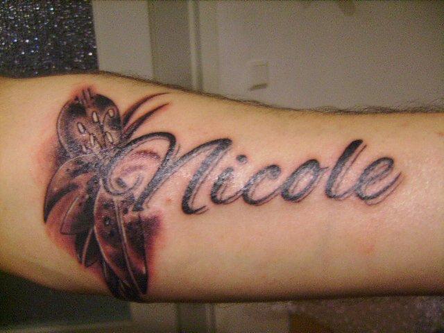 tattoo motive namen unterarm