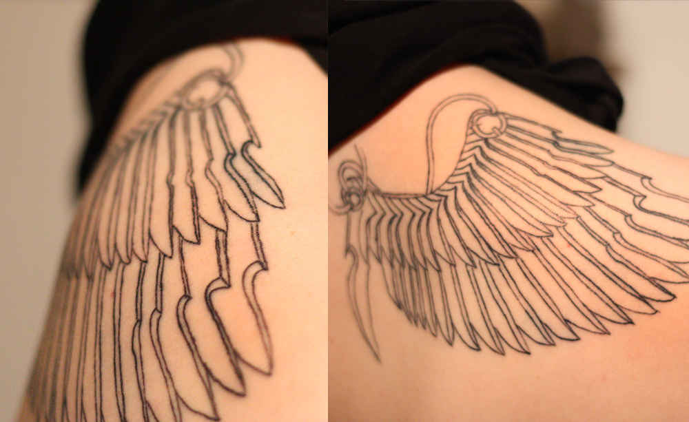 Leichter schwarzer strich auãƒå erhalb des tattoos tattoo picture